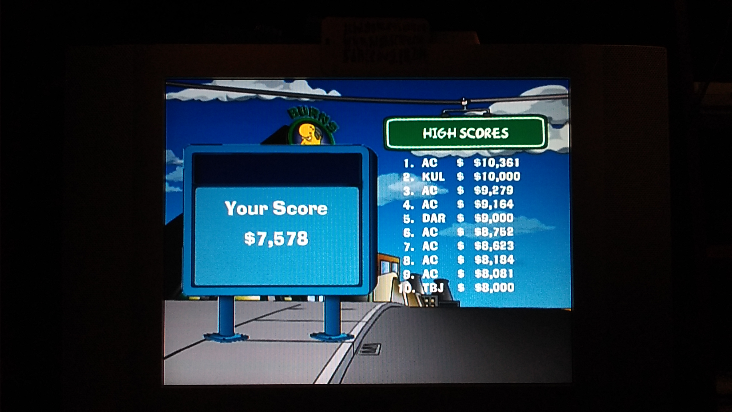 ichigokurosaki1991: The Simpsons Road Rage: Springfield Mountains [Normal] (Xbox) 7,578 points on 2016-11-29 21:59:00
