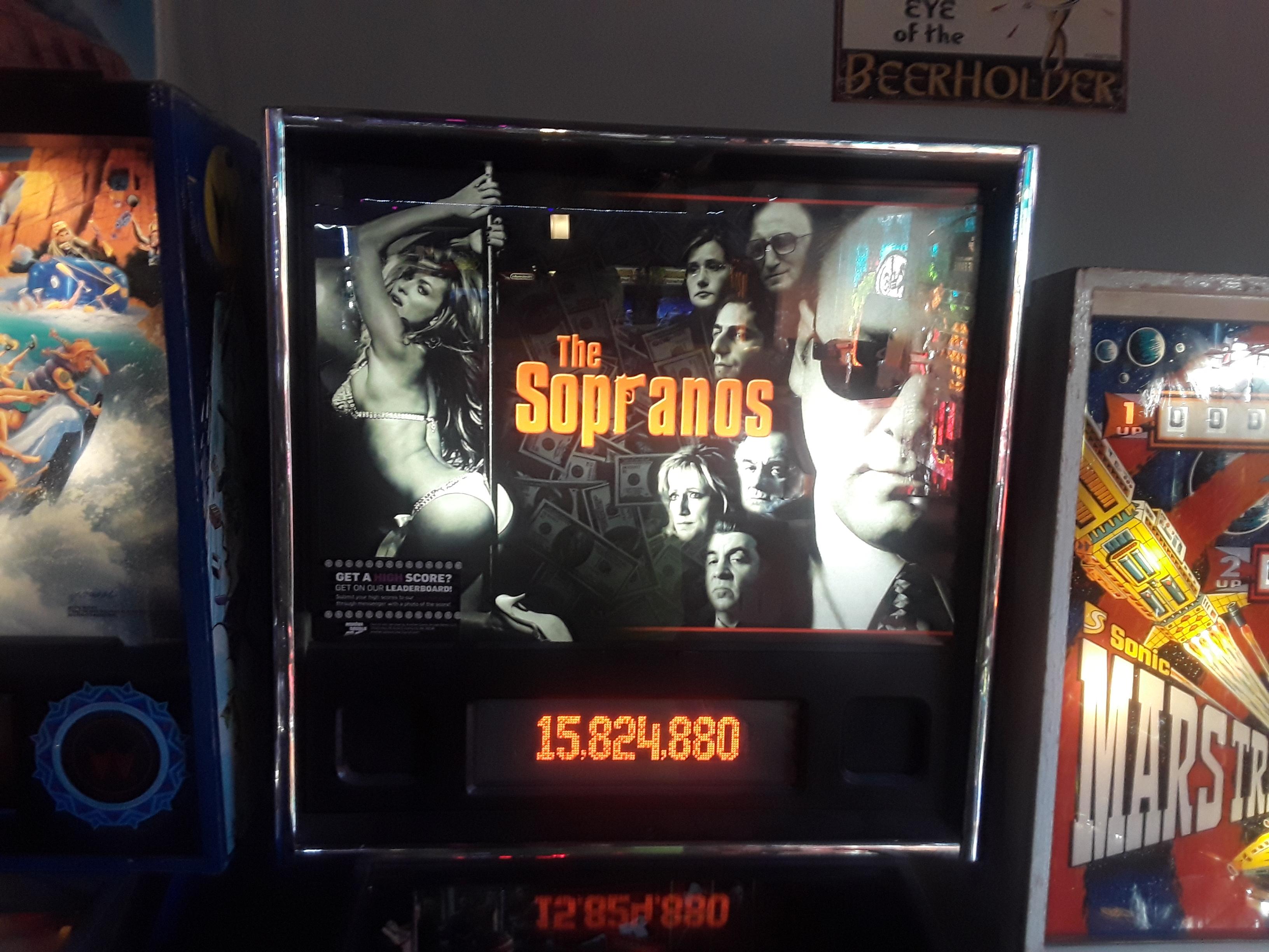JML101582: The Sopranos (Pinball: 3 Balls) 15,824,880 points on 2018-10-14 23:10:28
