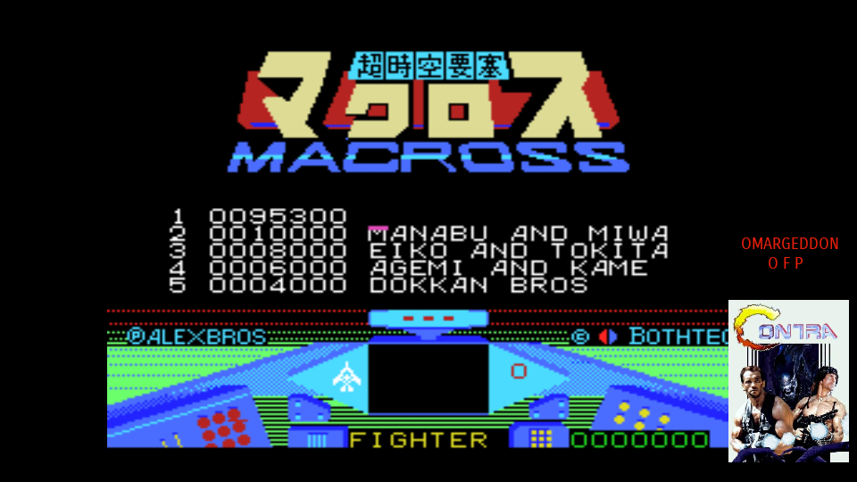 omargeddon: The Super Dimension Fortress Macross Countdown (MSX Emulated) 95,300 points on 2017-08-25 09:53:57