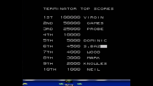 S.BAZ: The Terminator (Sega Master System Emulated) 4,500 points on 2020-03-29 04:24:29