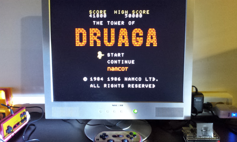 Larquey: The Tower Of Druaga (MSX Emulated) 41,800 points on 2017-10-15 12:44:21