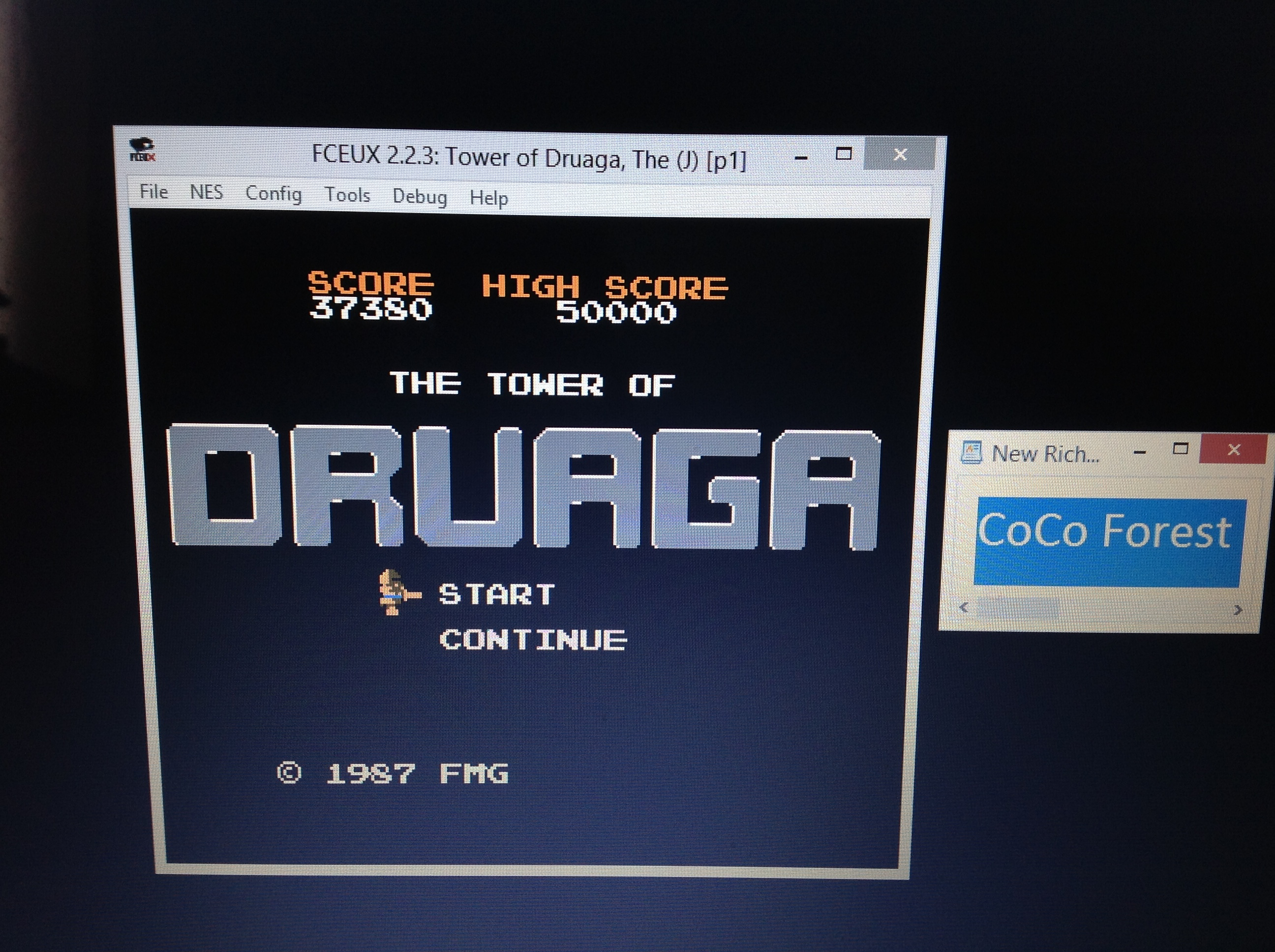 CoCoForest: The Tower of Druaga (NES/Famicom Emulated) 37,380 points on 2018-10-05 09:06:32