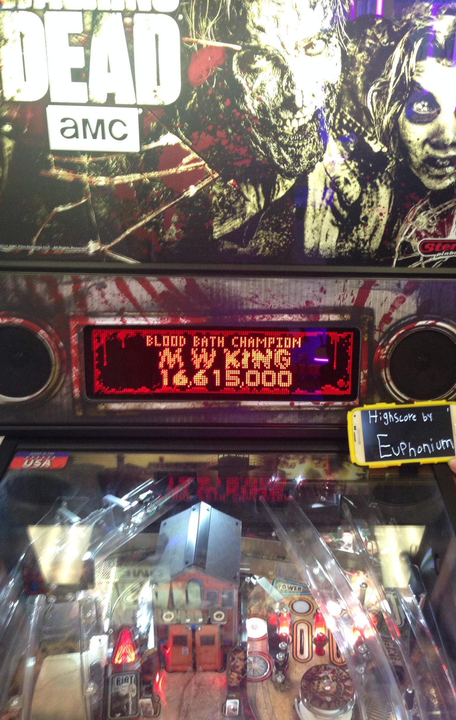 euphonium: The Walking Dead: Blood Bath Champion (Pinball Bonus Mode) 16,615,000 points on 2017-02-08 07:29:56