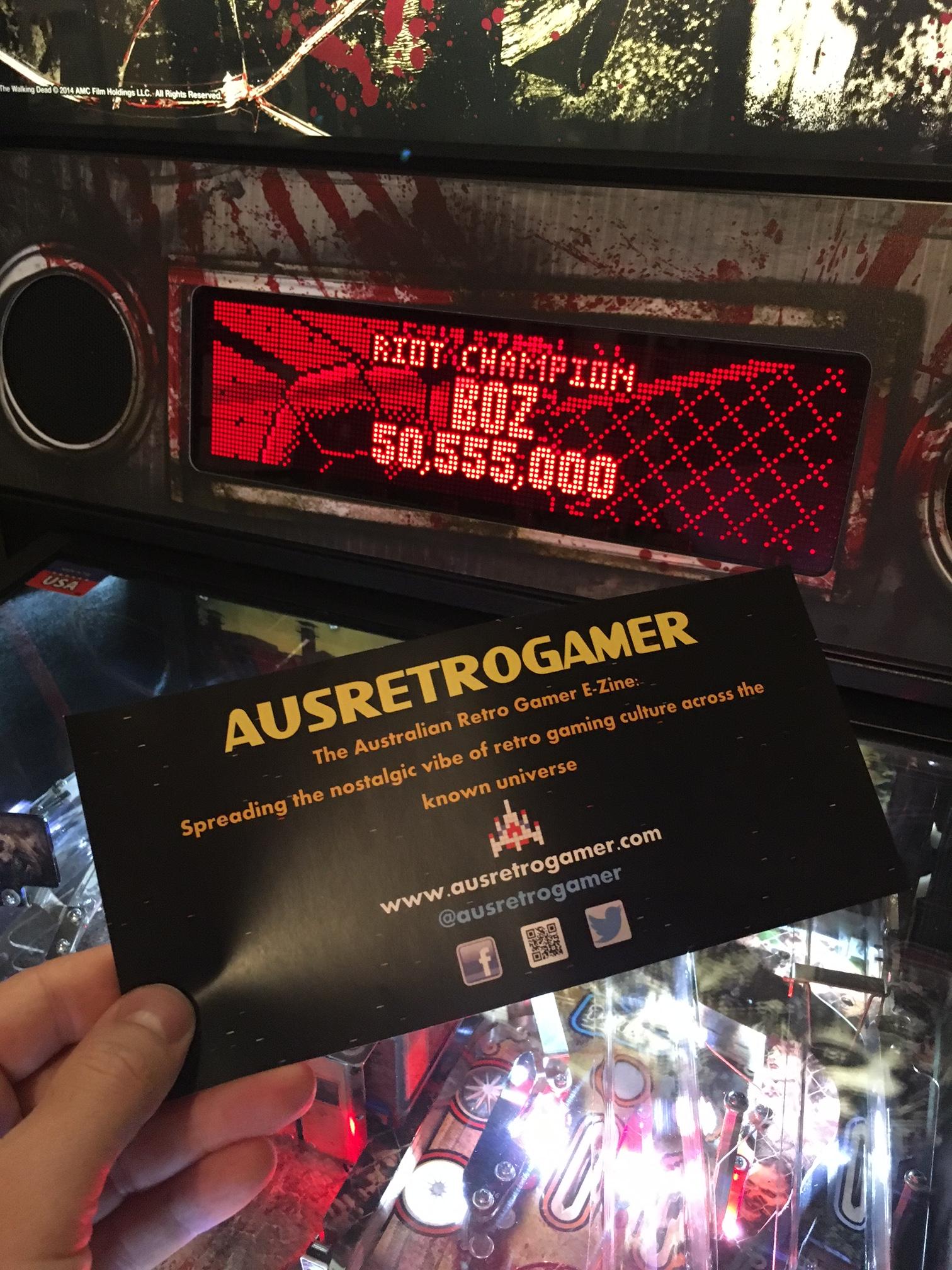 ausretrogamer: The Walking Dead: Riot Champion (Pinball Bonus Mode) 50,555,000 points on 2017-04-23 22:33:53