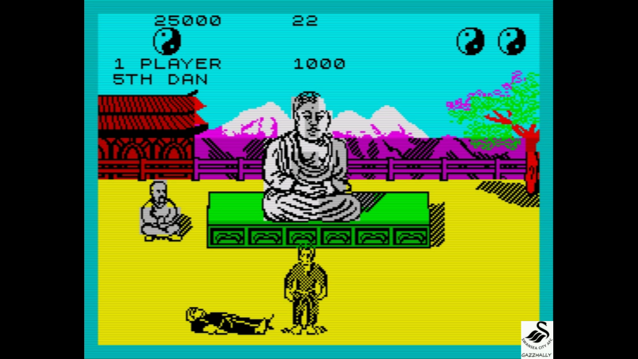 gazzhally: The Way of the Exploding Fist (ZX Spectrum Emulated) 25,000 points on 2017-08-17 03:01:09