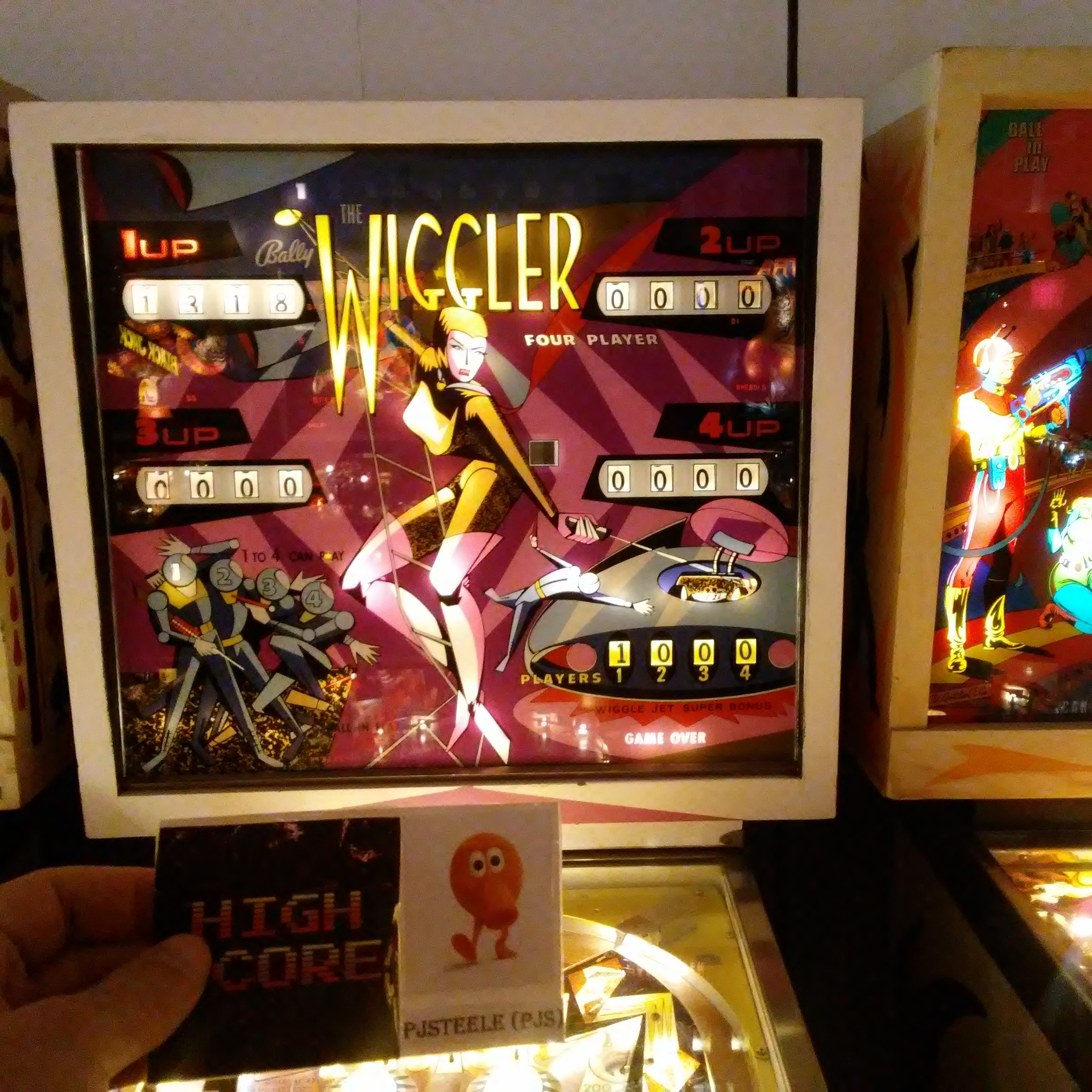 Pjsteele: The Wiggler (Pinball: 5 Balls) 1,318 points on 2017-12-31 18:39:47