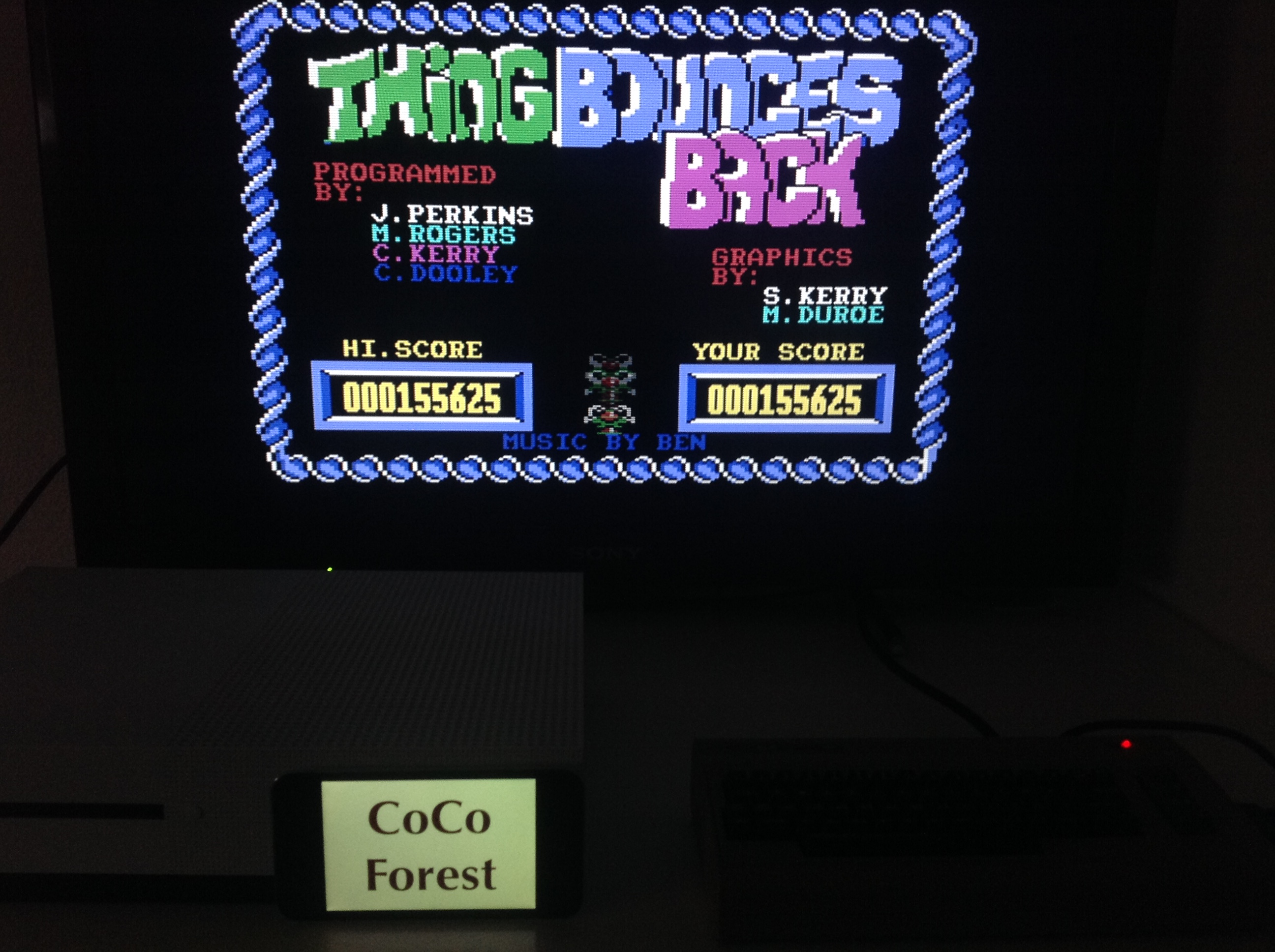 CoCoForest: Thing Bounces Back (Commodore 64 Emulated) 155,625 points on 2018-04-08 12:20:19