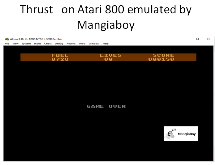 MangiaBoy: Thrust (Atari 400/800/XL/XE Emulated) 150 points on 2018-12-26 12:37:41
