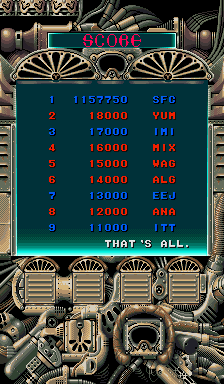 baldbull: Thunder Dragon [tdragon2] (Arcade Emulated / M.A.M.E.) 1,157,750 points on 2015-12-26 16:21:56