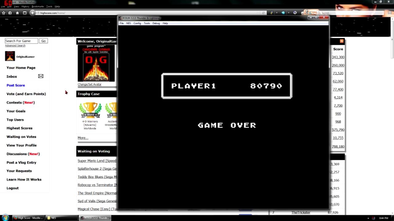 OriginalGamer: Thunder & Lightning (NES/Famicom Emulated) 80,790 points on 2015-11-23 18:56:00