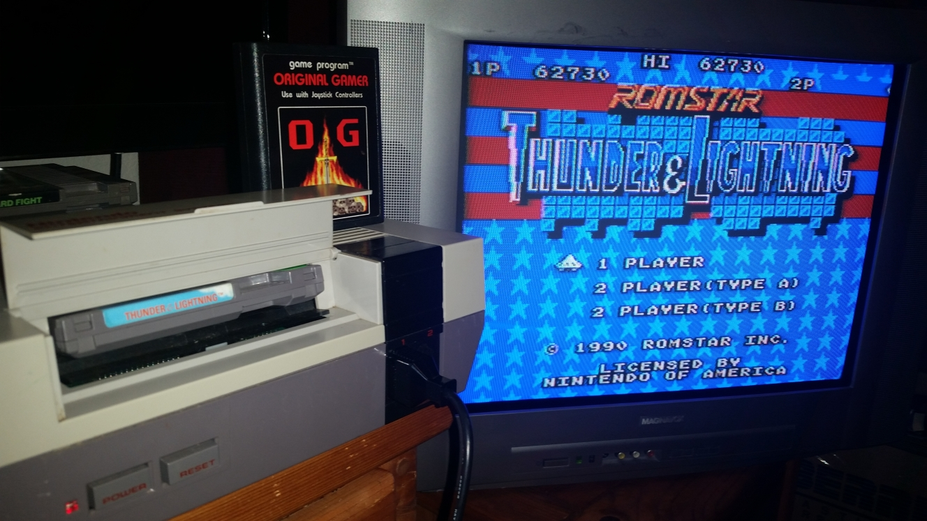 OriginalGamer: Thunder & Lightning (NES/Famicom) 62,730 points on 2016-06-26 22:48:42