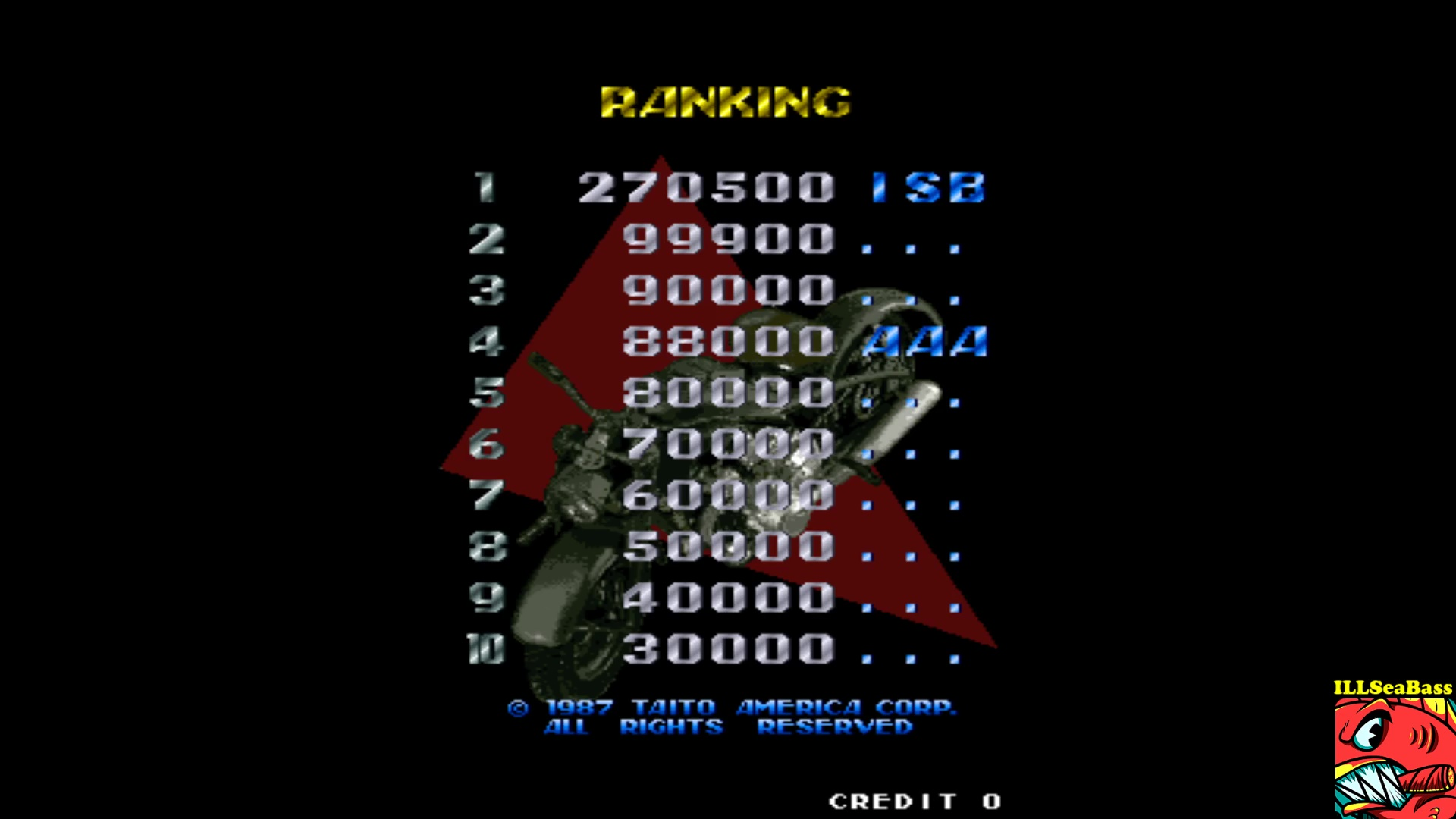 ILLSeaBass: Thundercade [tndrcade] (Arcade Emulated / M.A.M.E.) 270,500 points on 2017-10-07 22:05:00