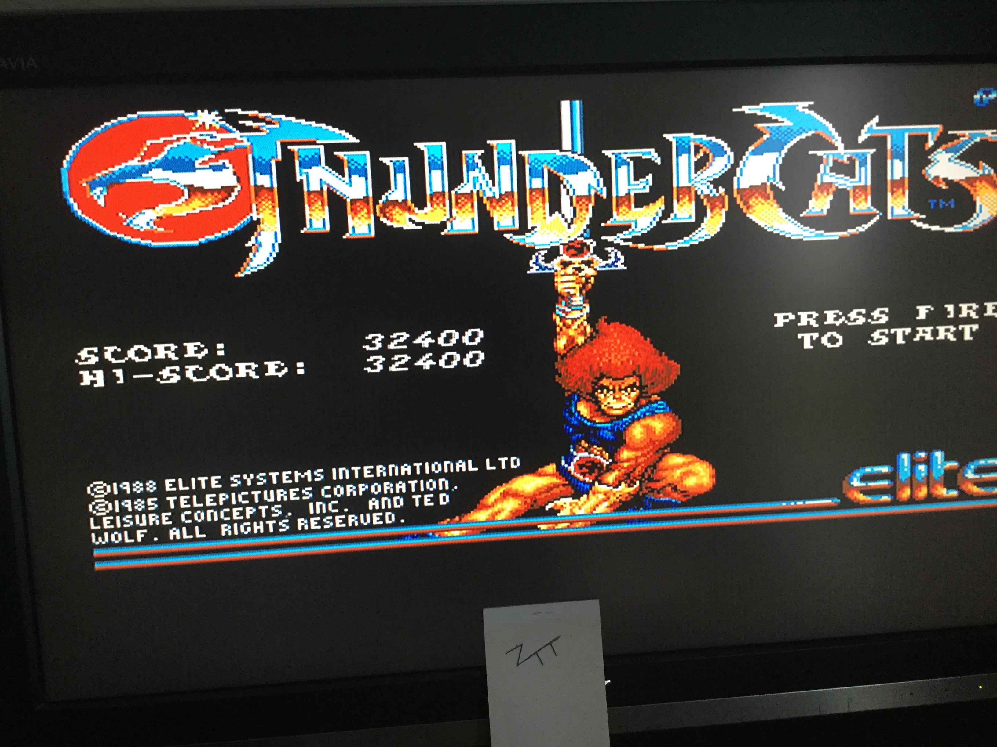Frankie: Thundercats (Amiga) 32,400 points on 2017-11-05 08:15:16
