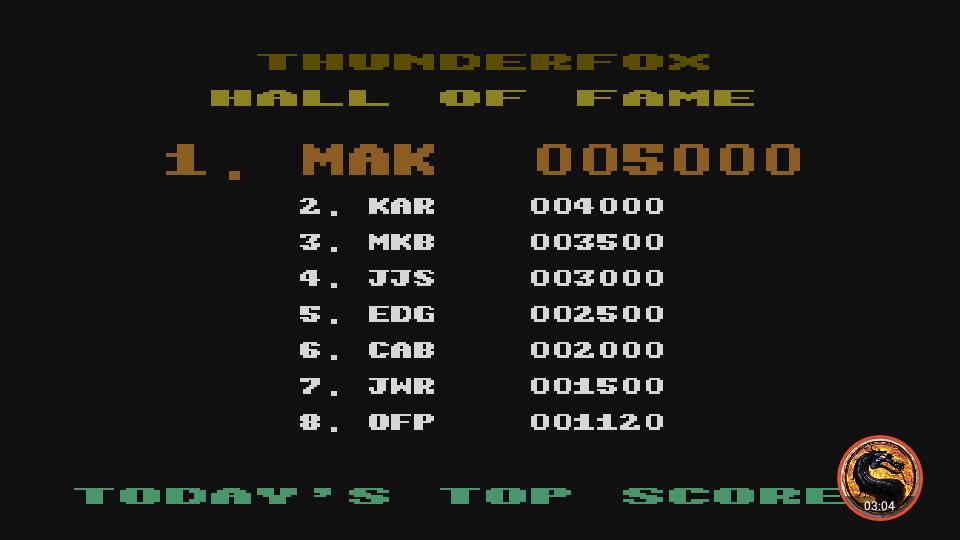 omargeddon: Thunderfox (Atari 400/800/XL/XE Emulated) 1,120 points on 2019-06-24 22:48:31
