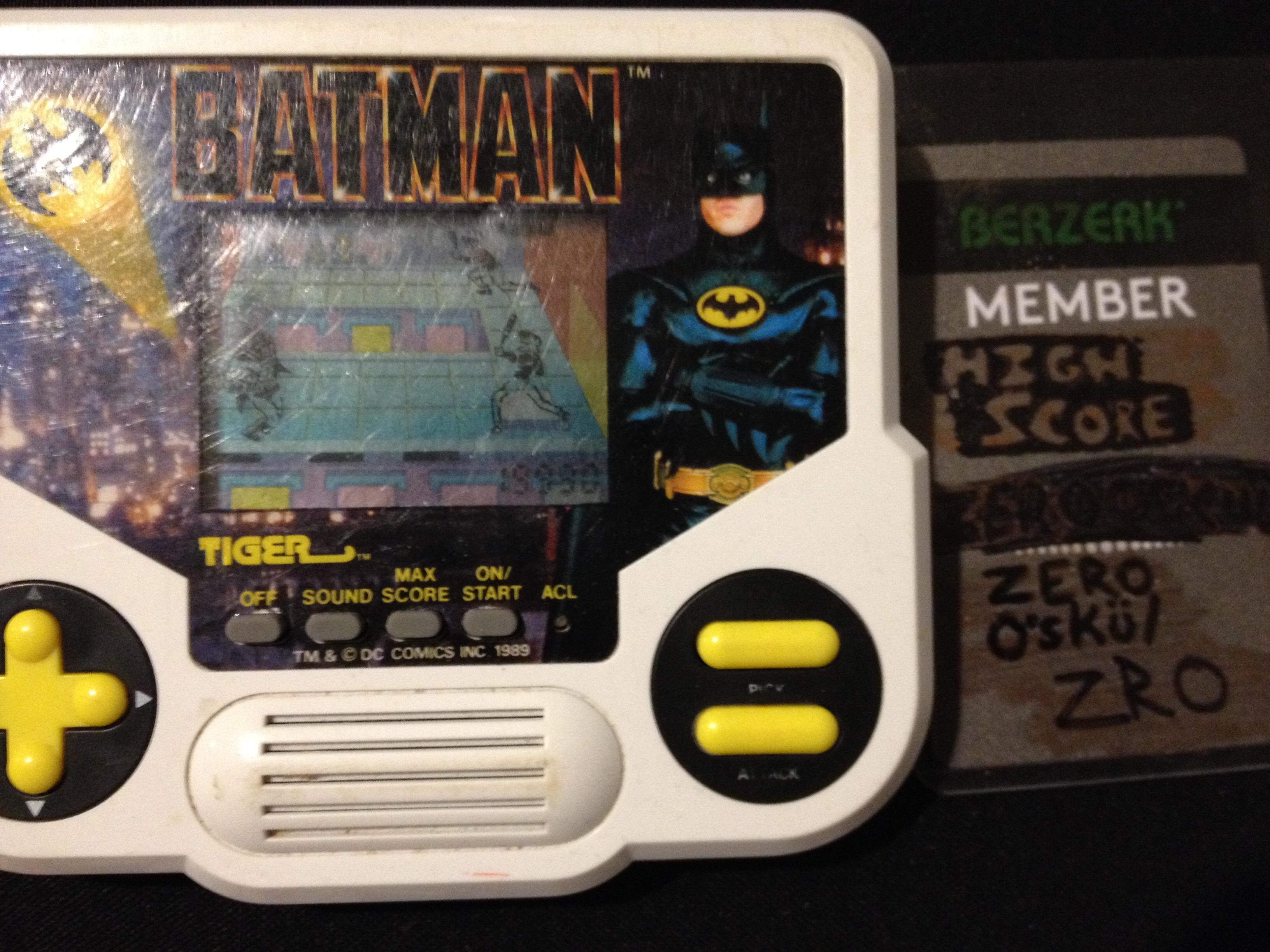 zerooskul: Tiger Electronics Batman (Dedicated Handheld) 19,990 points on 2019-08-08 01:32:46