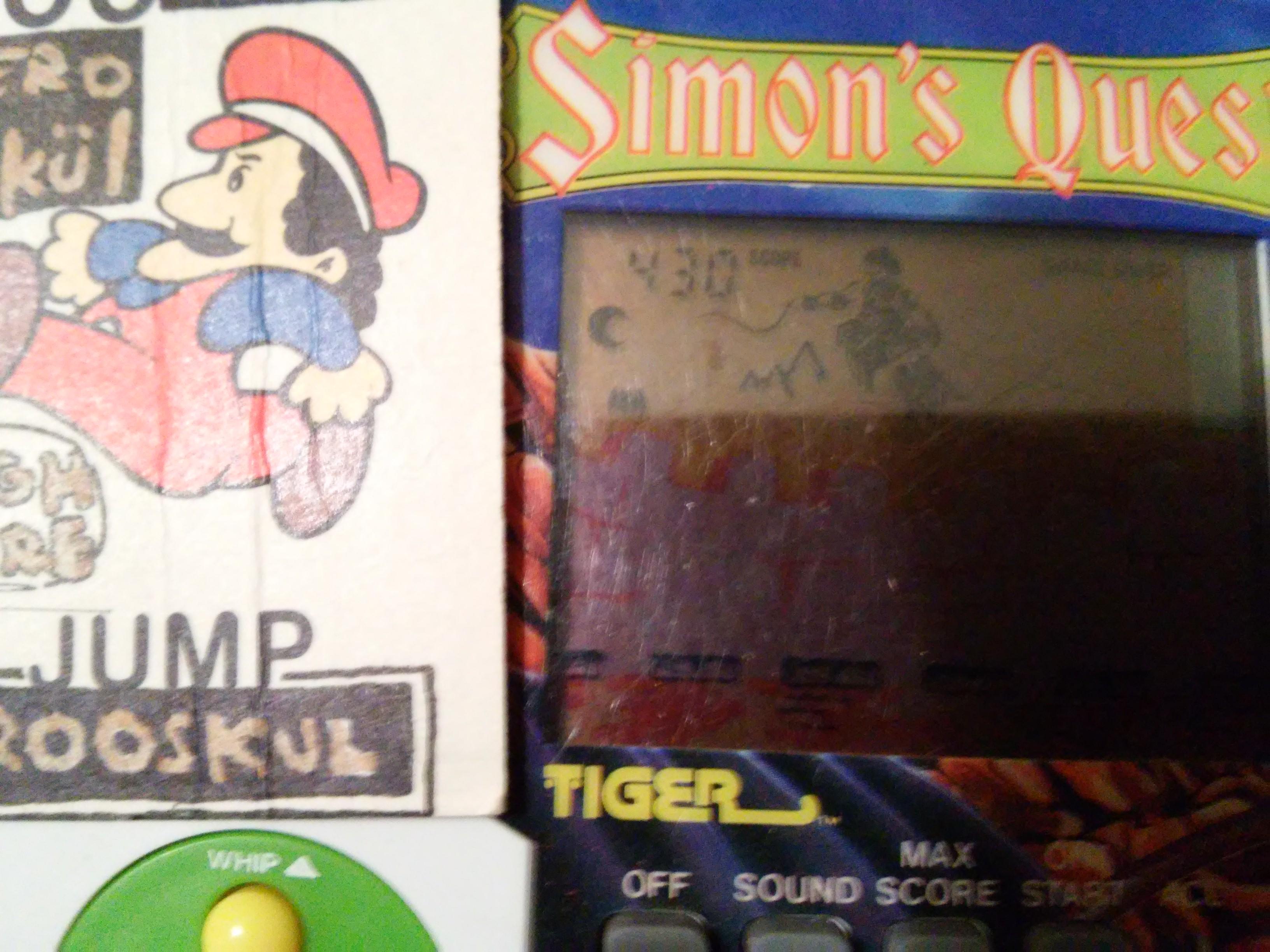 zerooskul: Tiger Electronics Castlevania II: Simons Quest (Dedicated Handheld) 430 points on 2019-01-31 19:05:43