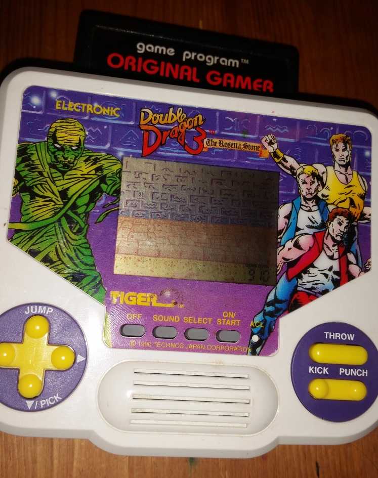 OriginalGamer: Tiger Electronics Double Dragon 3: The Rosetta Stone (Dedicated Handheld) 910 points on 2016-05-27 18:45:50