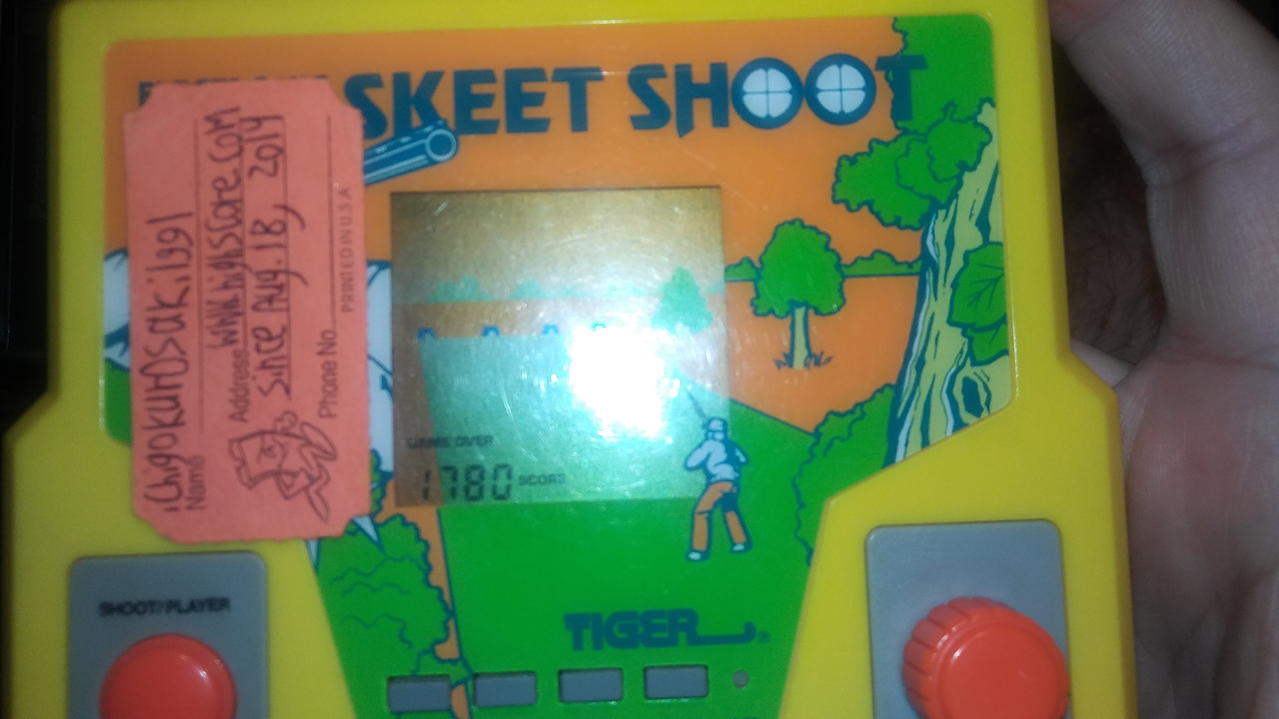 Tiger Electronics Skeet Shoot [Game 1] 1,780 points