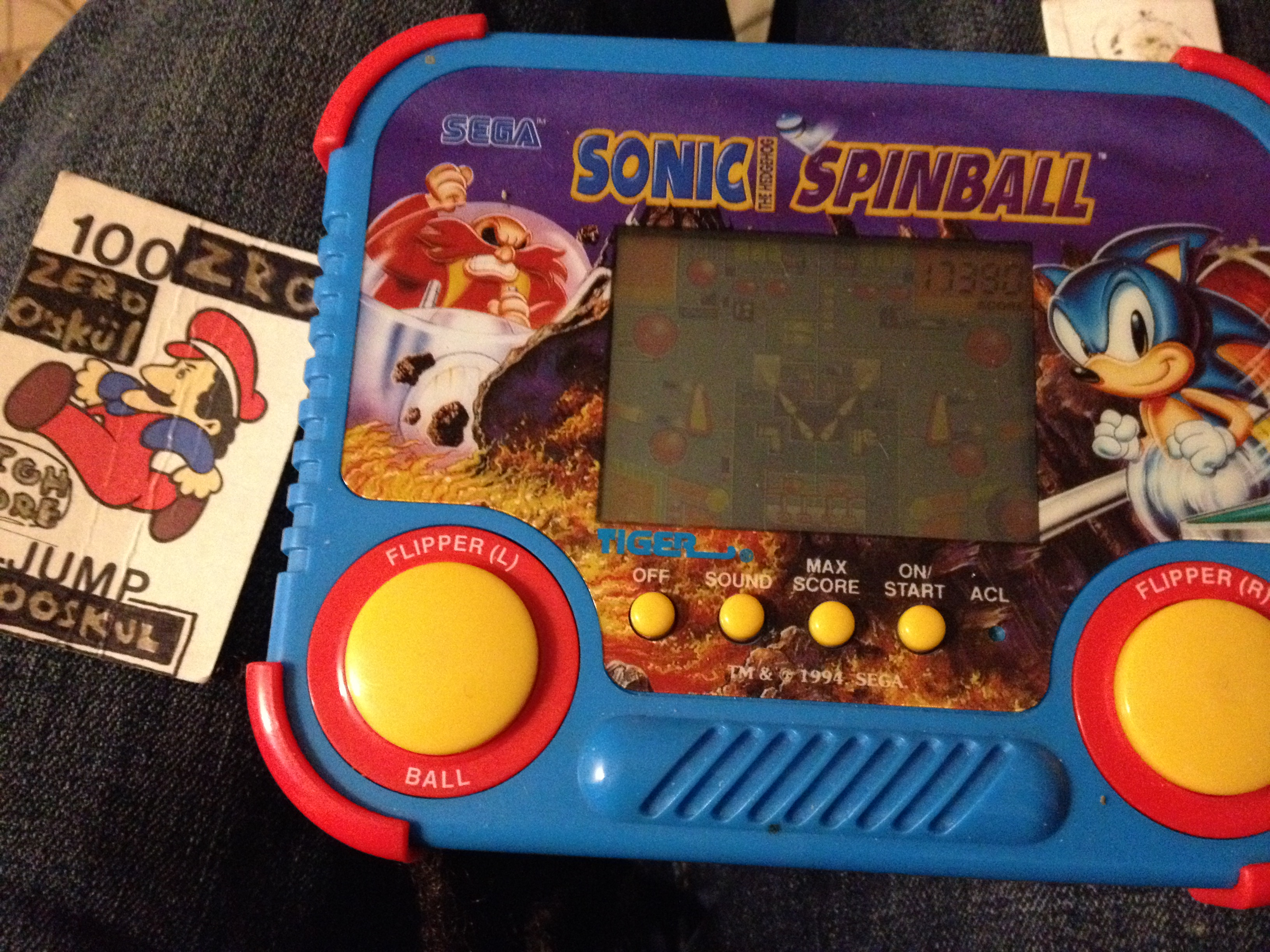 Tiger Electronics Sonic Spinball 17,390 points