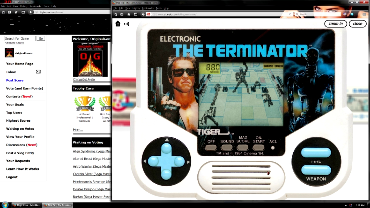 OriginalGamer: Tiger Electronics The Terminator (Dedicated Handheld Emulated) 880 points on 2016-05-24 20:59:03