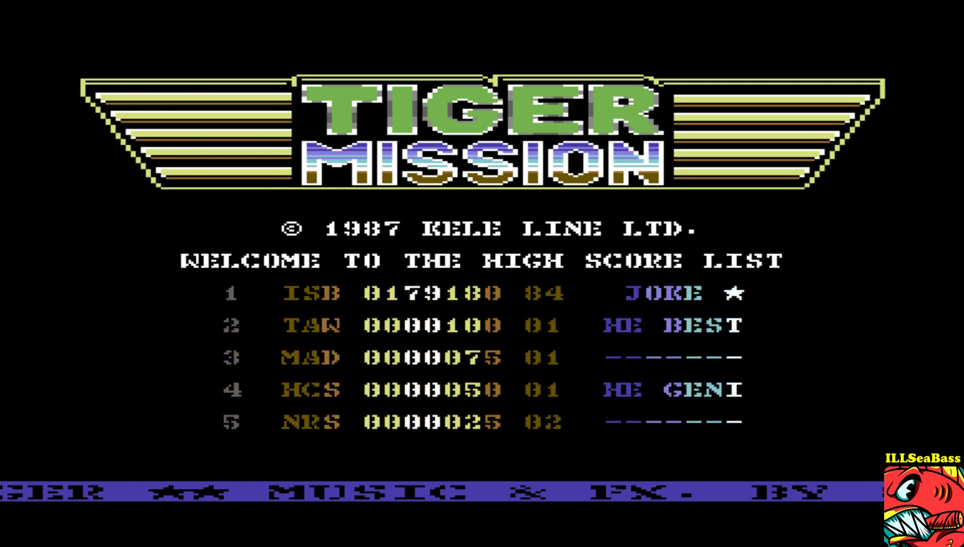 ILLSeaBass: Tiger Mission (Commodore 64 Emulated) 179,180 points on 2017-04-10 13:36:37