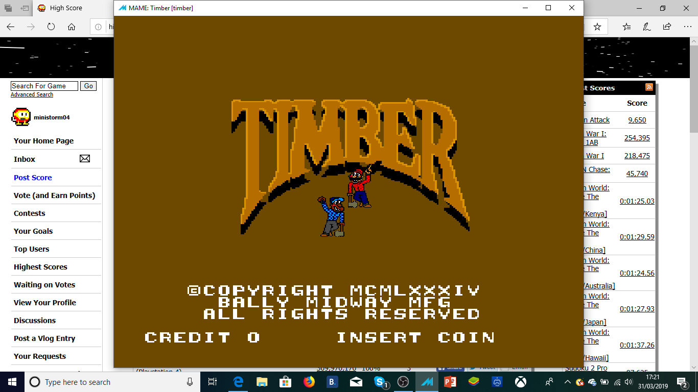 Timber 57,875 points
