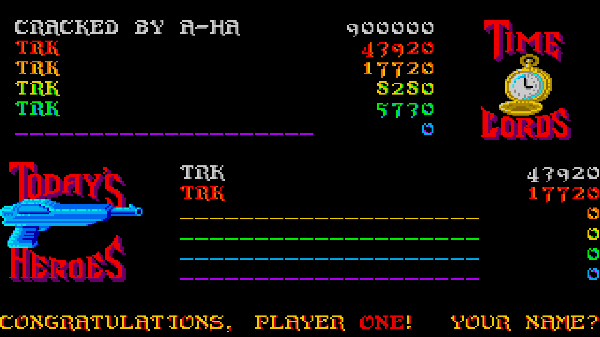 TheTrickster: Time Bandit (Amiga Emulated) 43,920 points on 2015-08-13 16:17:01