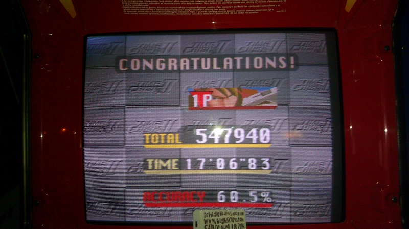 Time Crisis II 547,940 points