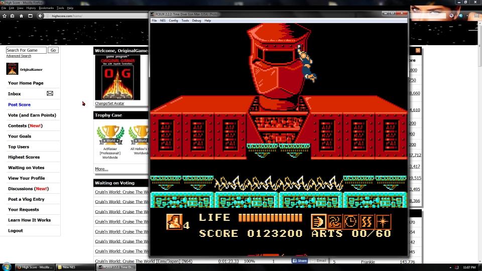 OriginalGamer: Time Diver: Eon Man (NES/Famicom Emulated) 123,200 points on 2016-08-26 03:30:14