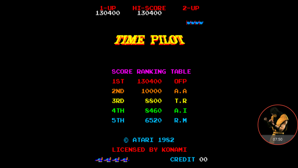 omargeddon: Time Pilot (Arcade Emulated / M.A.M.E.) 130,400 points on 2017-11-21 19:01:28