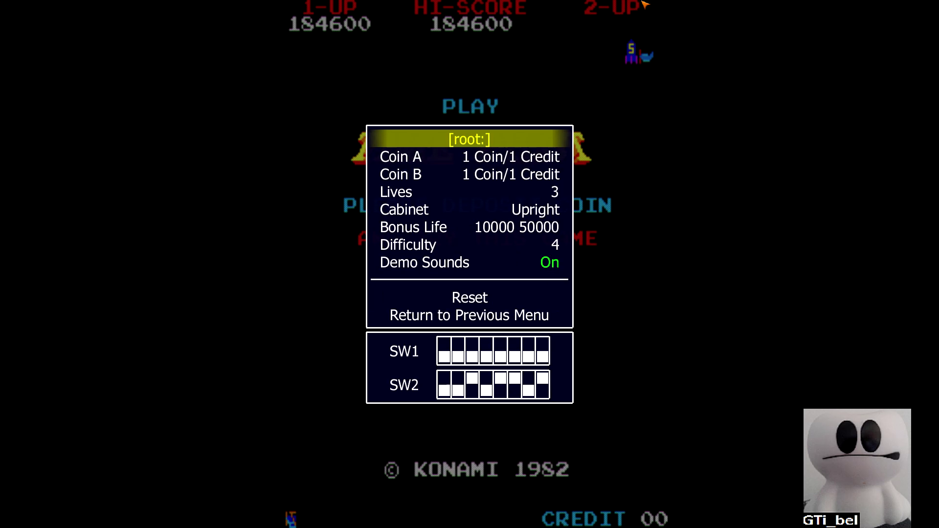 GTibel: Time Pilot (Arcade Emulated / M.A.M.E.) 184,600 points on 2020-08-16 06:43:47