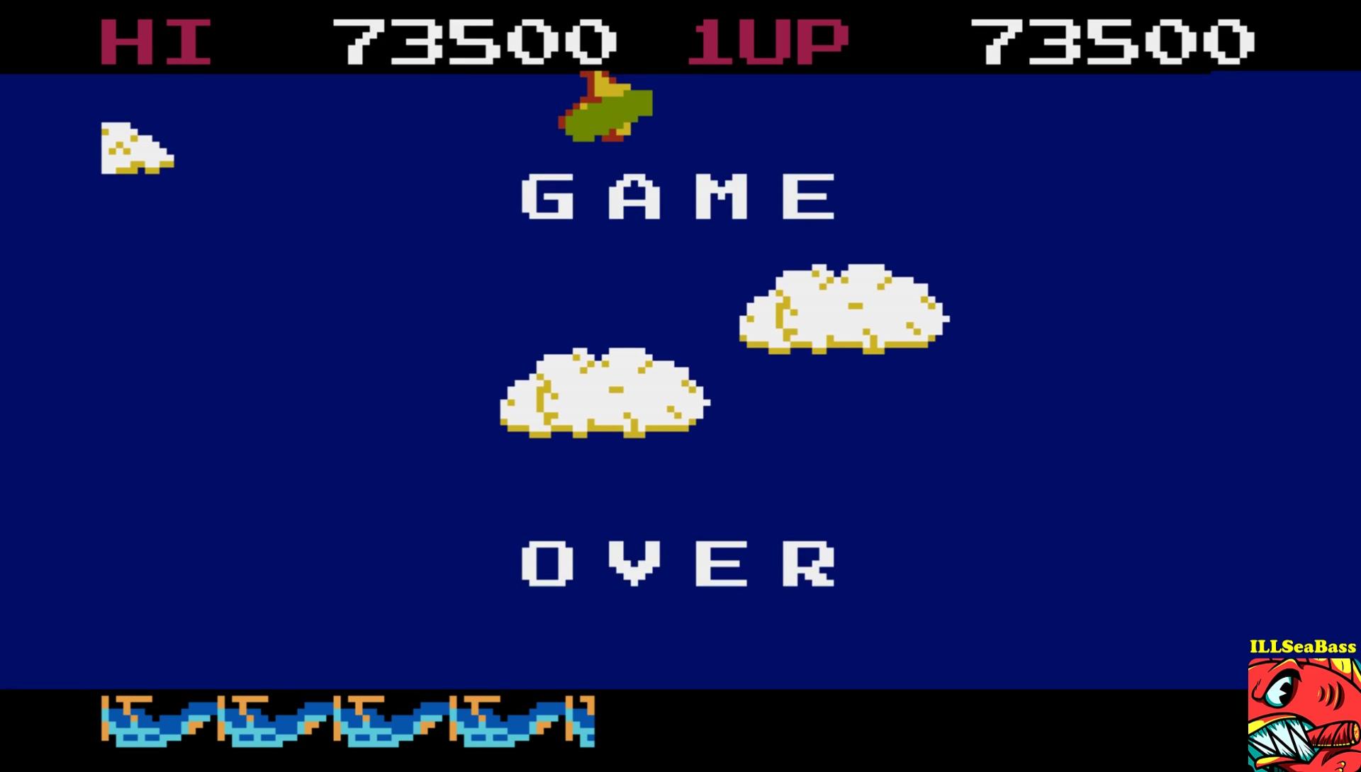 ILLSeaBass: Time Pilot (Atari 400/800/XL/XE Emulated) 73,500 points on 2017-06-03 11:10:38