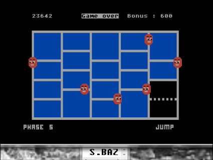 S.BAZ: Time Runner (Atari 400/800/XL/XE Emulated) 23,642 points on 2016-06-18 14:25:21