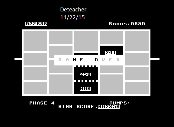 Deteacher: Time Runner (Commodore 64 Emulated) 22,638 points on 2015-11-22 21:41:52