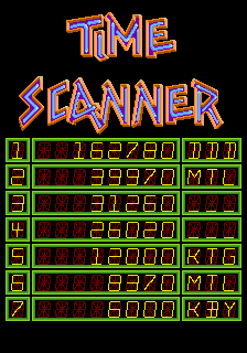 Mantalow: Time Scanner [timescan] (Arcade Emulated / M.A.M.E.) 39,970 points on 2015-07-04 04:35:40