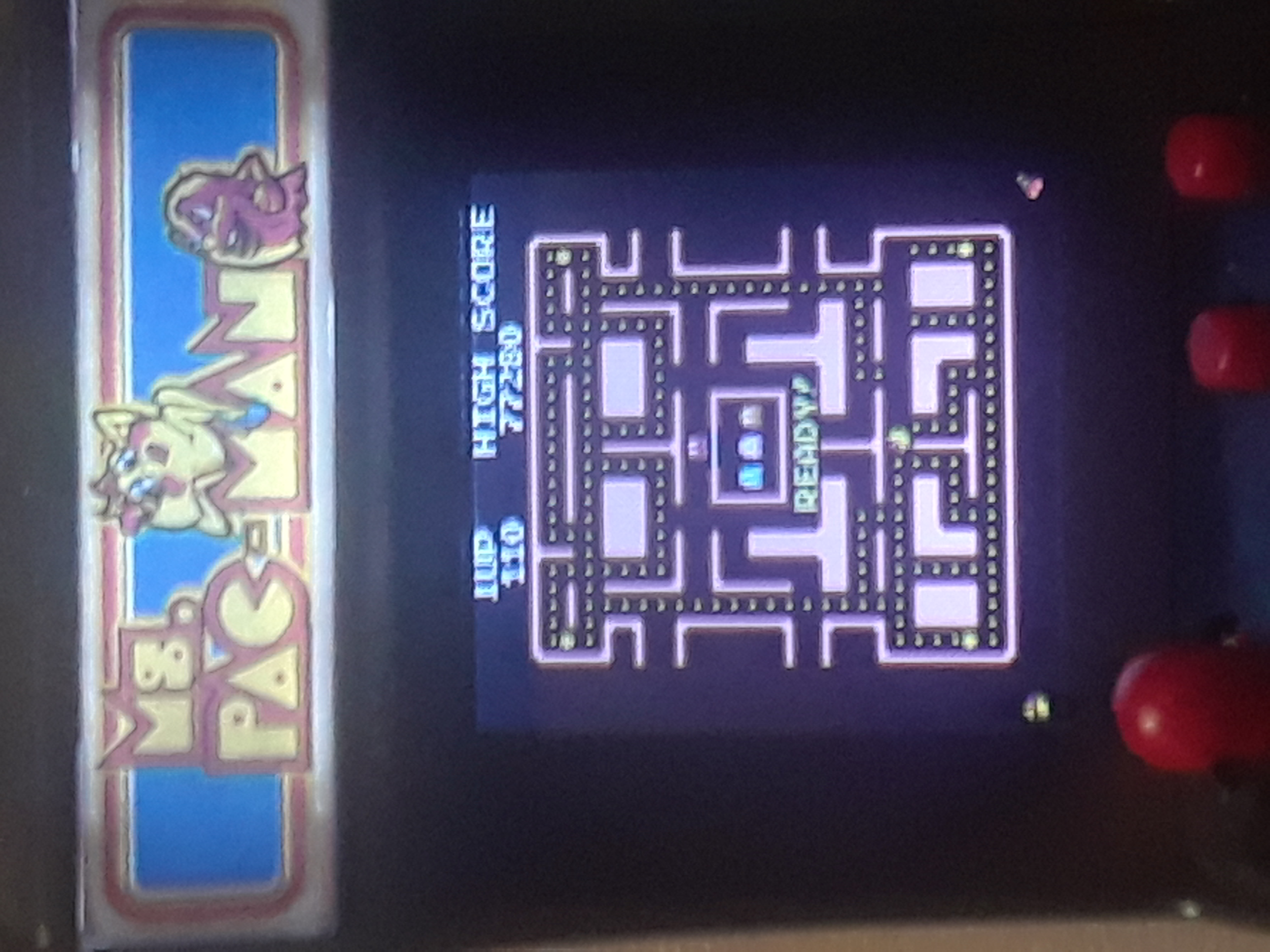 Tiny Arcade: Ms. Pac Man 77,280 points