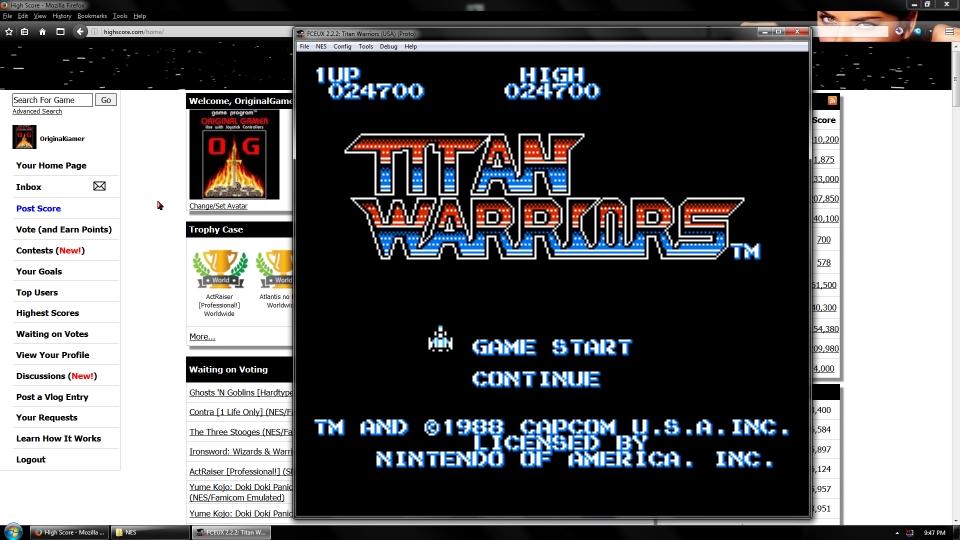 OriginalGamer: Titan Warriors (NES/Famicom Emulated) 24,700 points on 2016-09-19 01:42:52