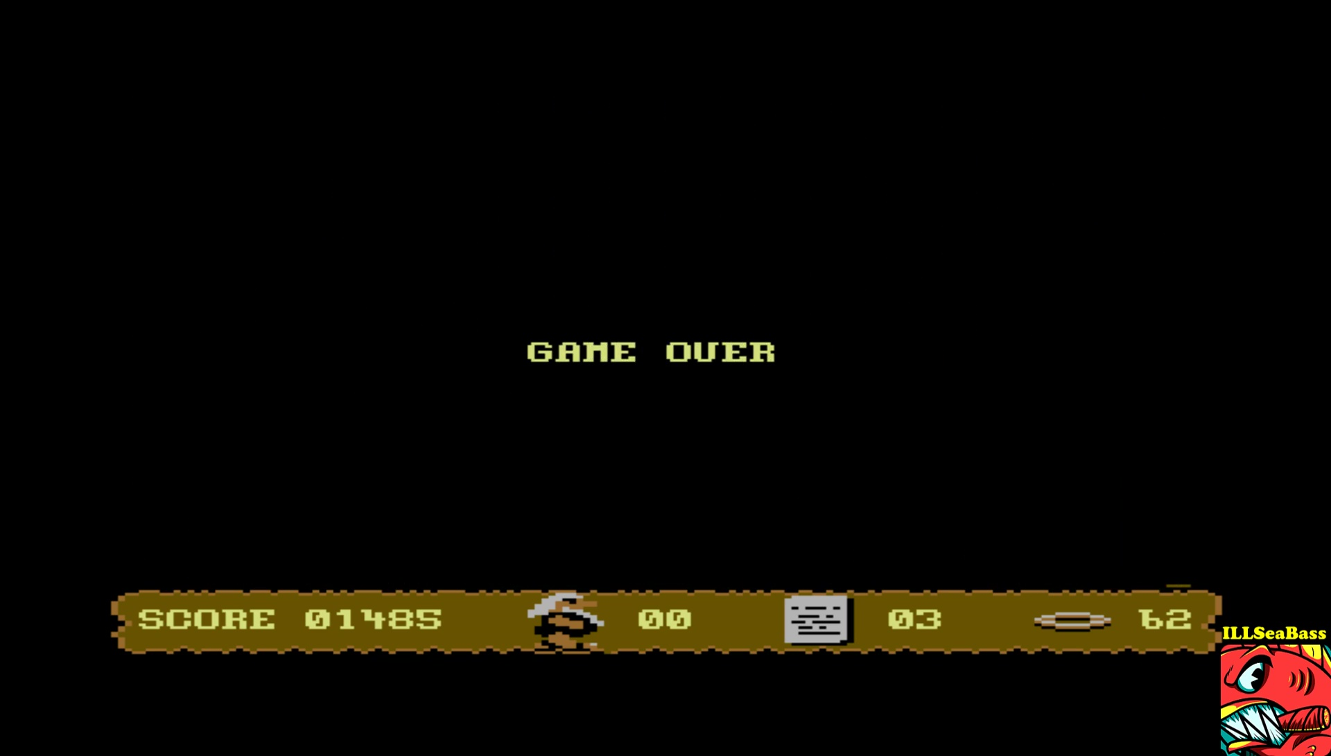 ILLSeaBass: To Hell and Back (Commodore 64 Emulated) 1,485 points on 2017-04-10 10:38:41