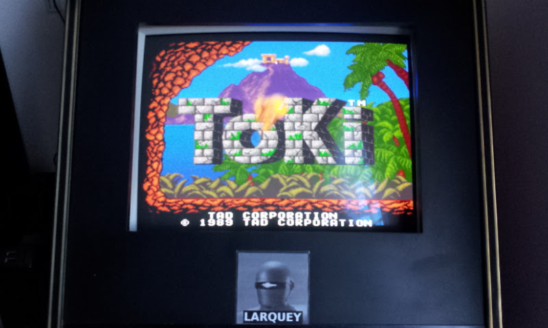 Larquey: Toki (Arcade Emulated / M.A.M.E.) 88,800 points on 2017-12-24 03:52:41