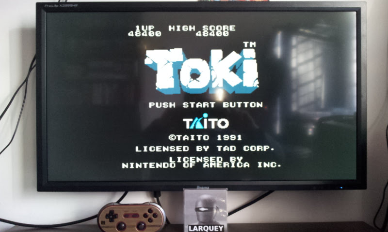 Larquey: Toki (NES/Famicom Emulated) 48,400 points on 2017-12-23 08:54:10