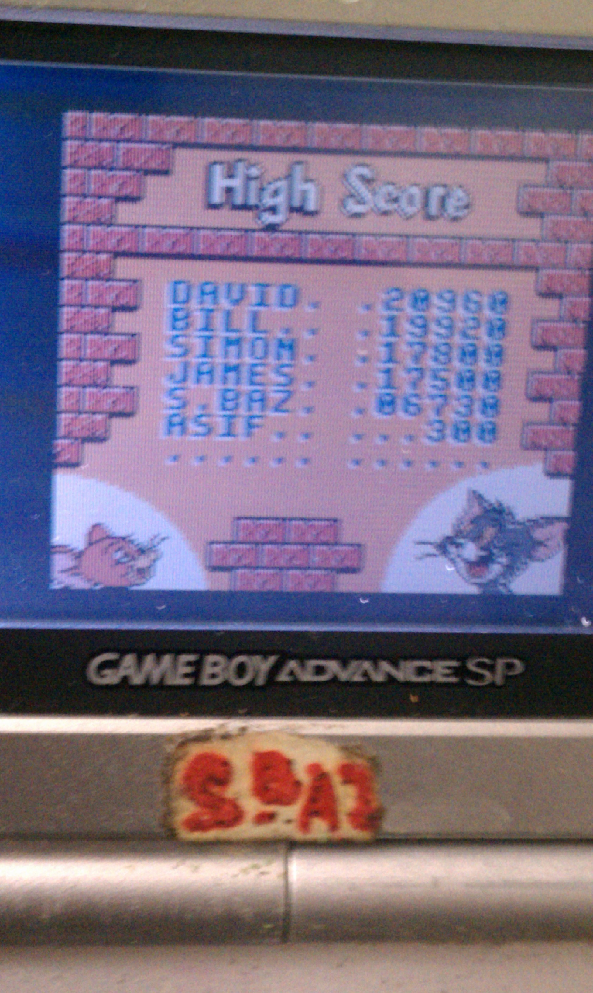 S.BAZ: Tom & Jerry (Game Boy Color) 6,730 points on 2020-03-18 23:06:11
