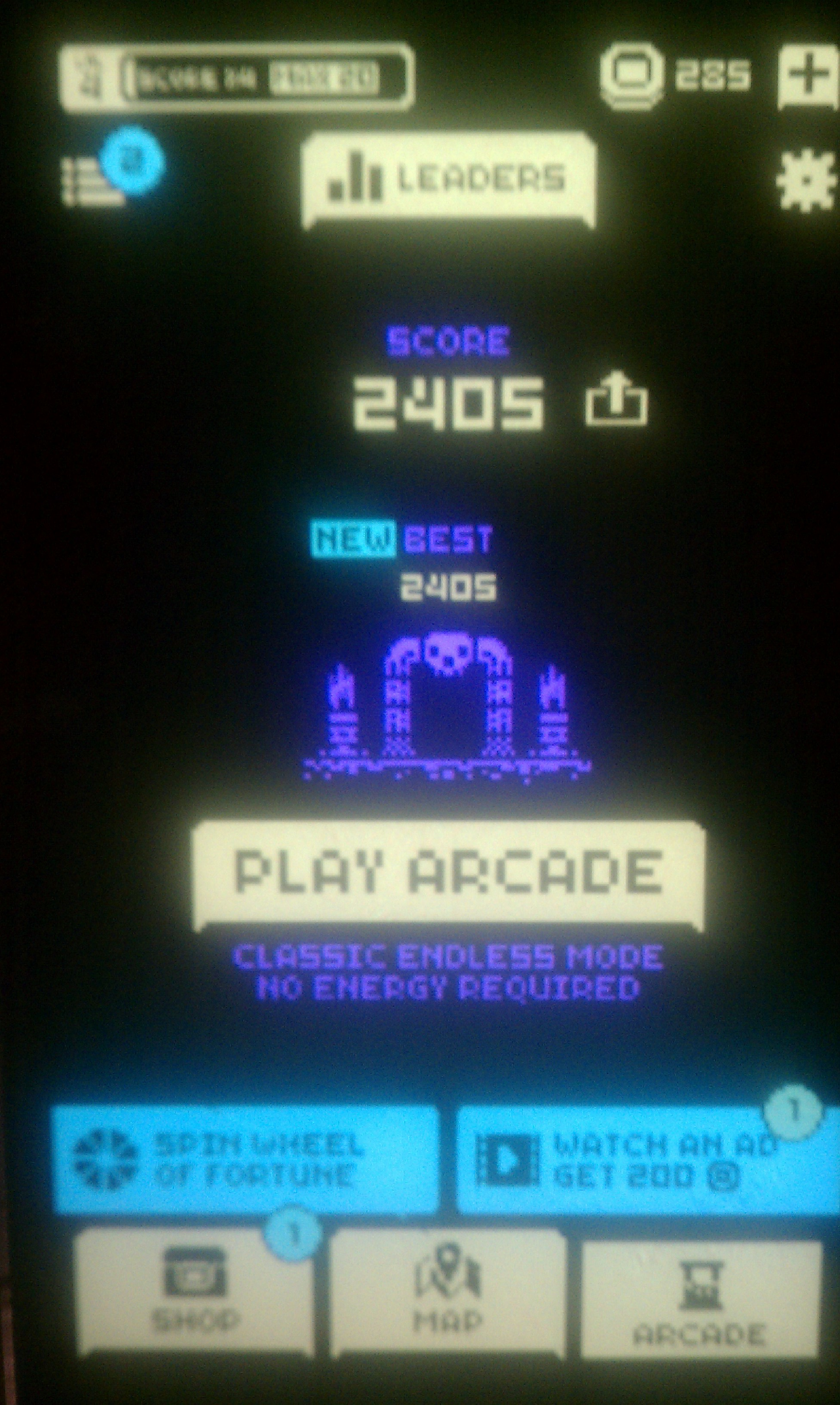 S.BAZ: Tomb Of The Mask: Arcade [Any Powerup Or Mask/ Any Level] (Android) 2,405 points on 2018-07-23 15:47:02