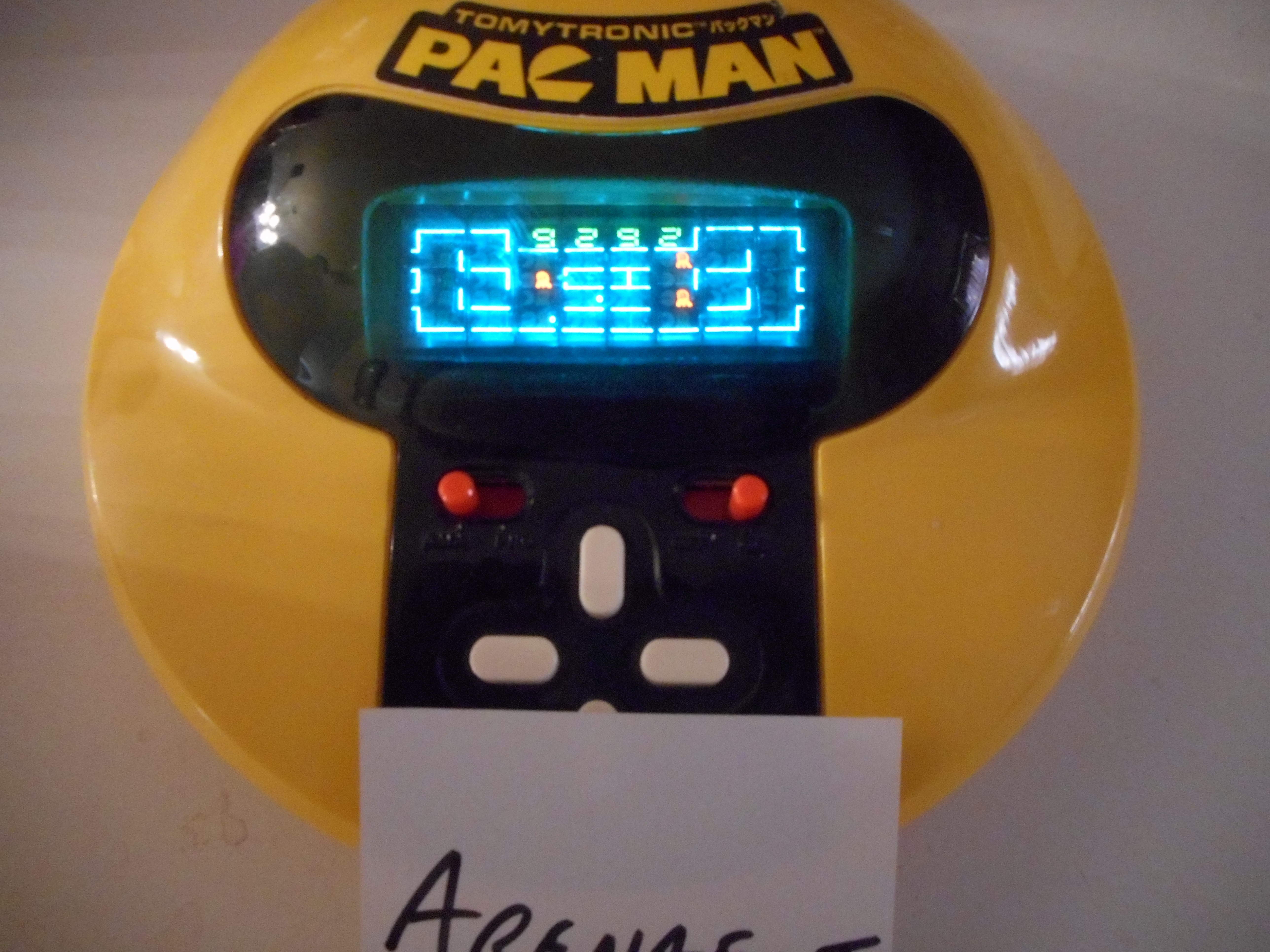 arenafoot: TomyTronic Pac-Man (Dedicated Handheld) 9,292 points on 2017-10-06 11:57:47