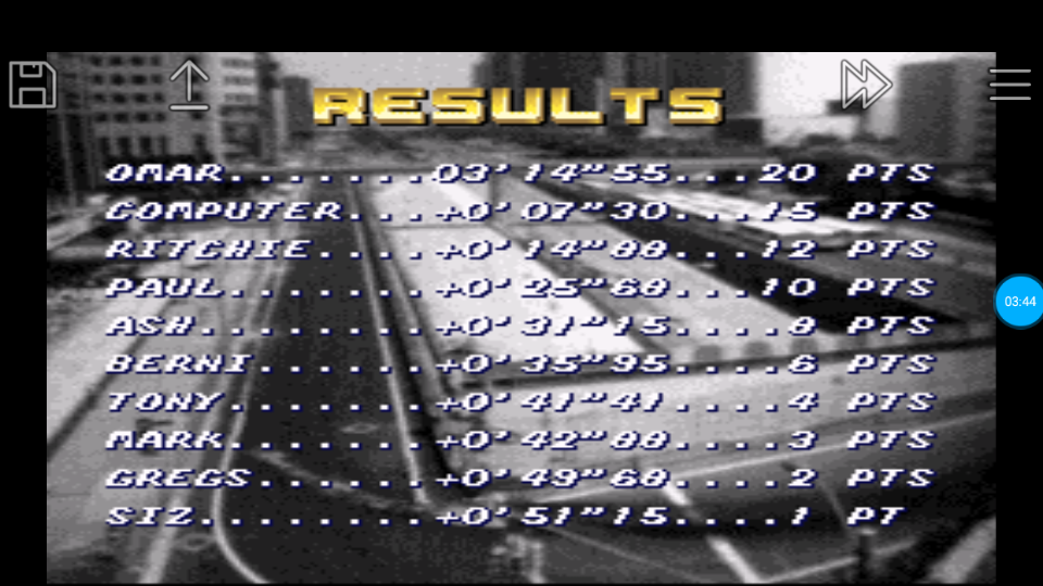 omargeddon: Top Gear [Track 7: Chichen Itza/Amateur Difficulty/No Nitro] (SNES/Super Famicom Emulated) 0:03:14.55 points on 2018-06-26 23:47:49