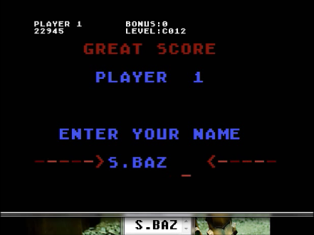 S.BAZ: Topper (Atari 400/800/XL/XE Emulated) 22,945 points on 2016-04-22 12:04:55