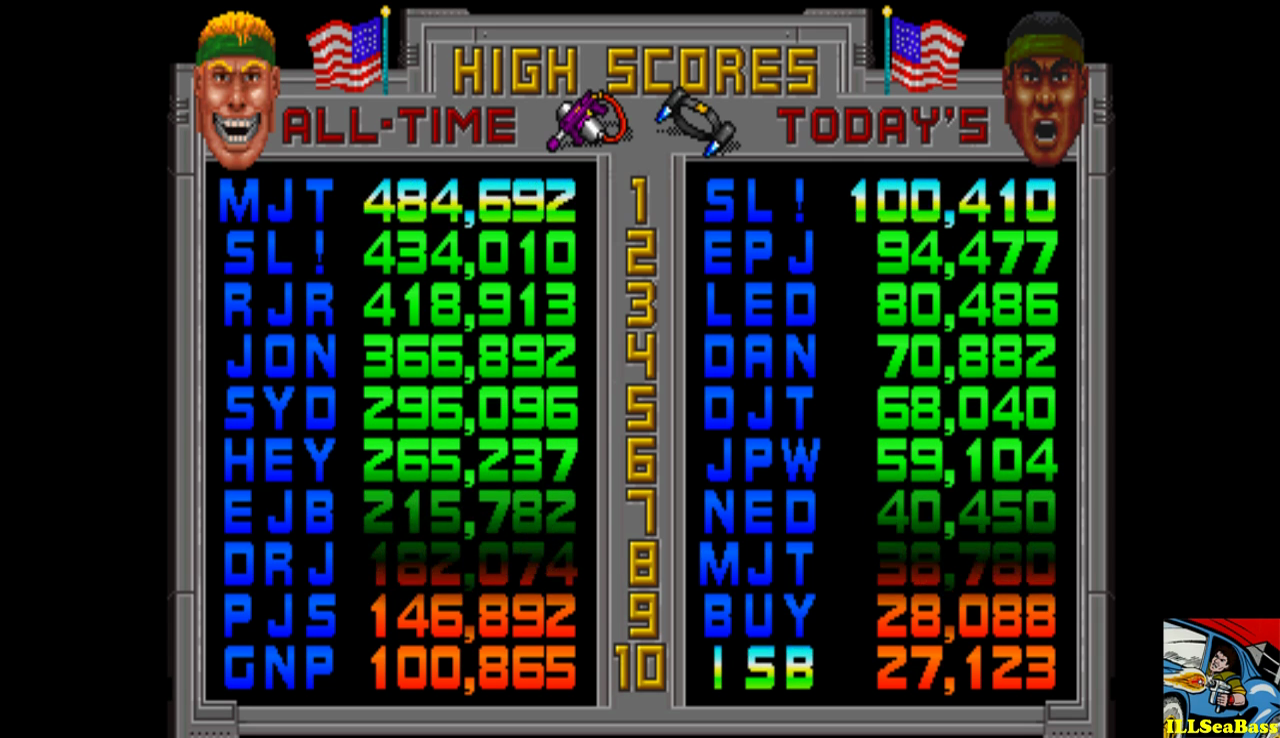 ILLSeaBass: Total Carnage (Arcade Emulated / M.A.M.E.) 27,123 points on 2016-12-01 23:24:59