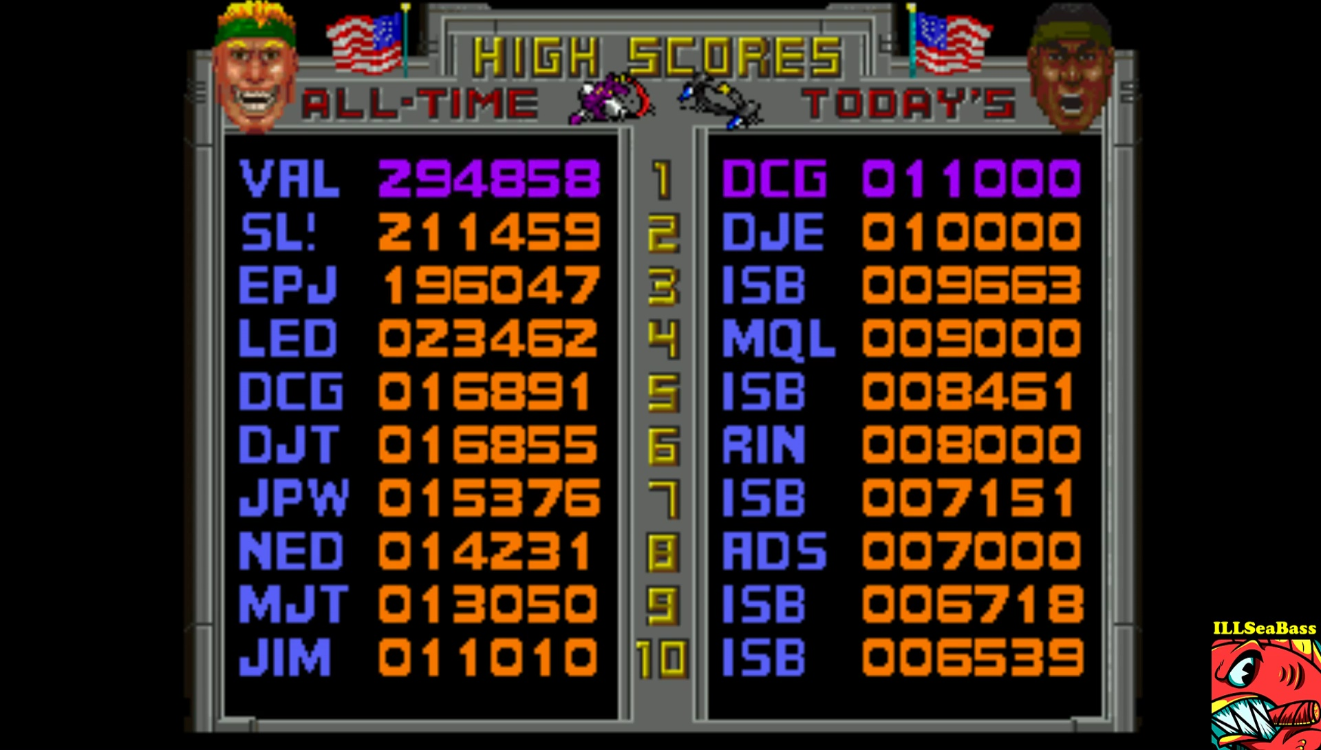 ILLSeaBass: Total Carnage (Atari Jaguar Emulated) 8,461 points on 2017-05-27 12:29:44