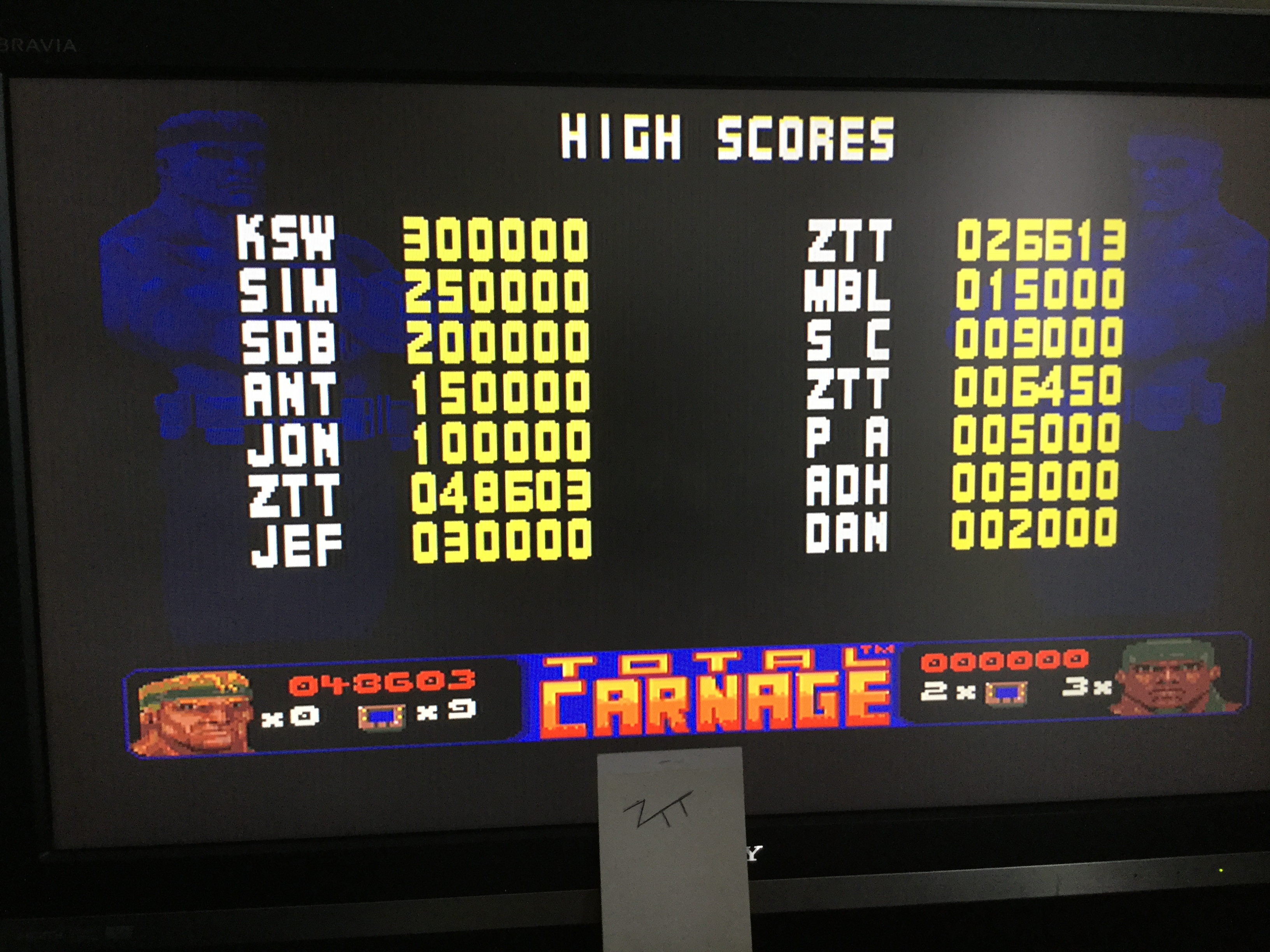 Frankie: Total Carnage [Easy] (Amiga) 48,603 points on 2017-10-28 05:18:45