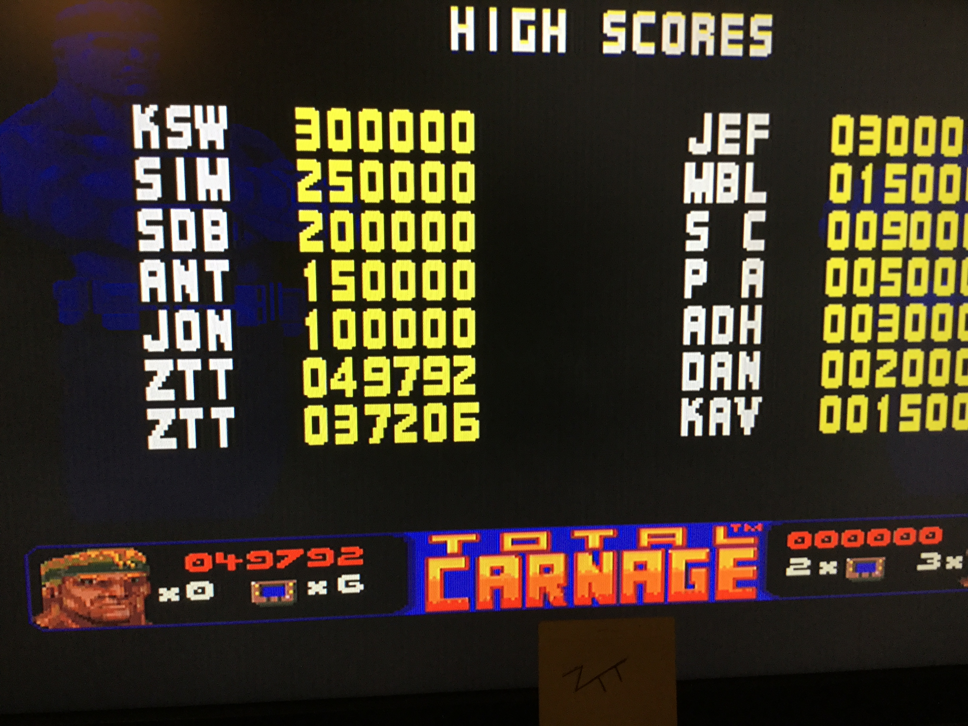 Frankie: Total Carnage [Hard] (Amiga) 49,792 points on 2017-10-28 11:28:58