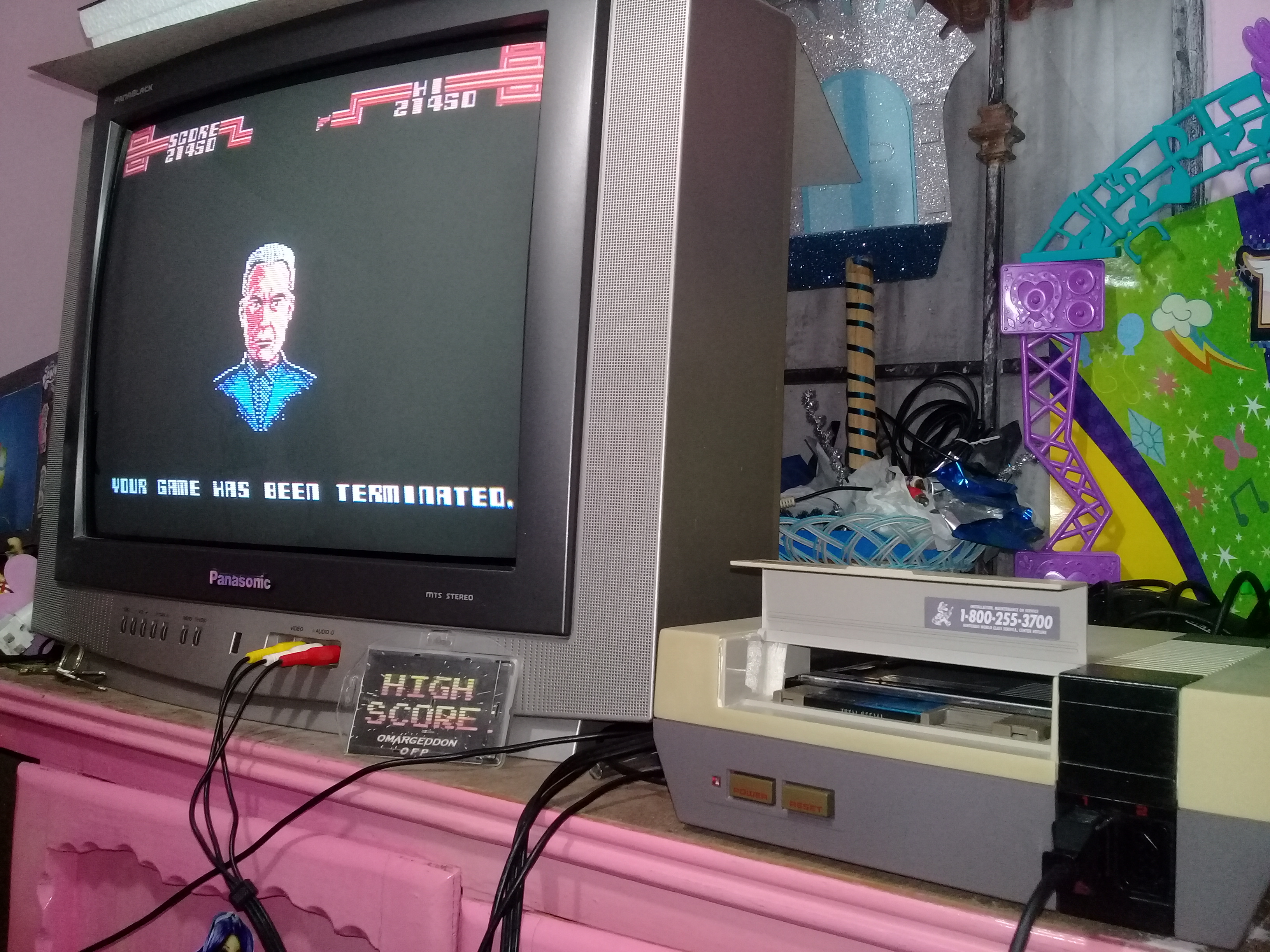 omargeddon: Total Recall (NES/Famicom) 21,450 points on 2019-01-13 18:21:54